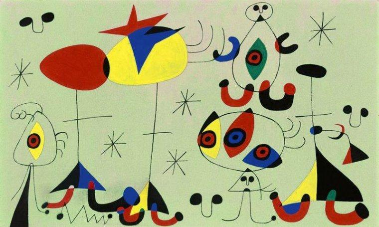 Una de les obres de Miró