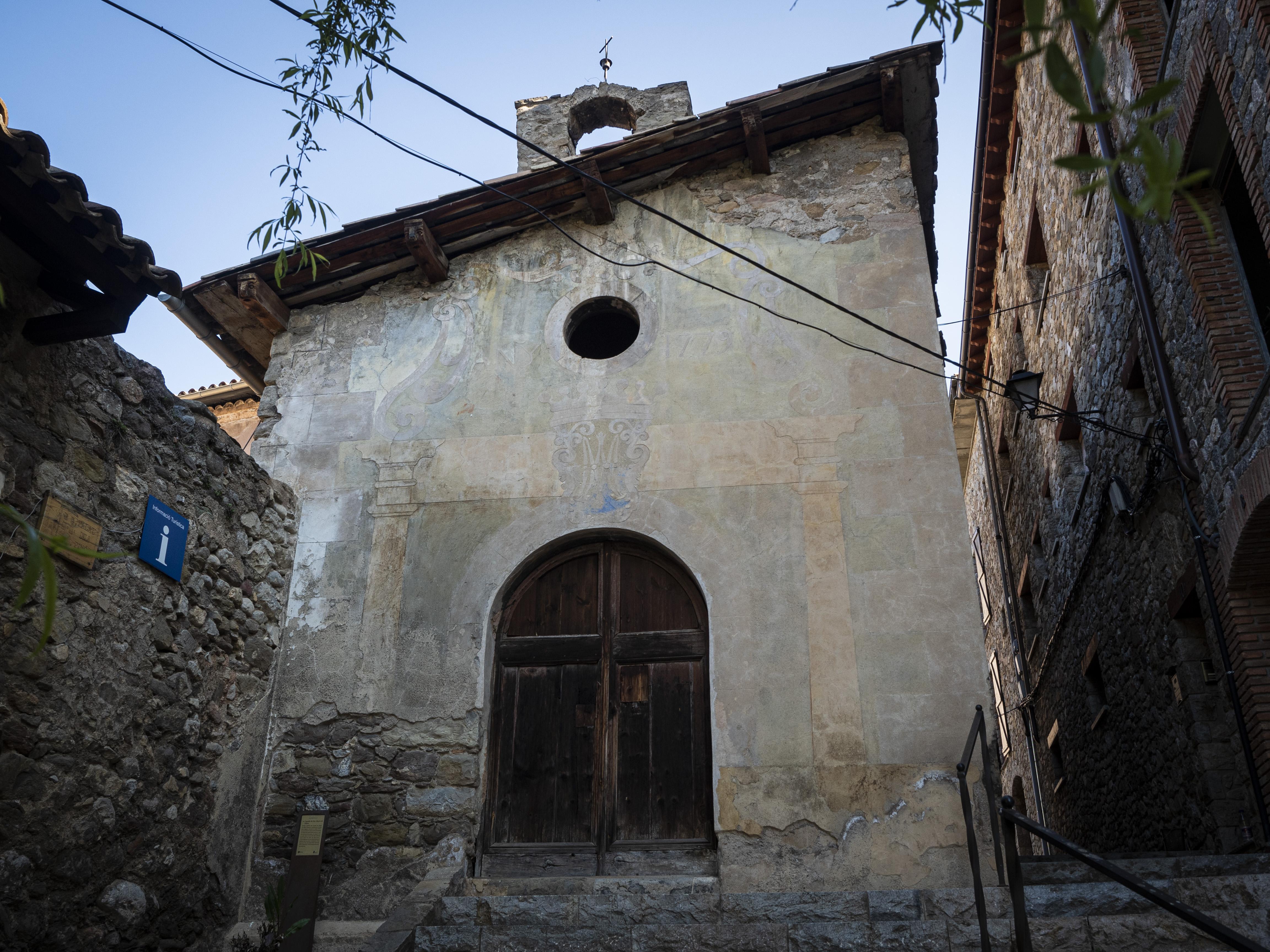 Capella de Santa Maria de Palau, antiga capella del castell de Bagà. FOTO: Anna E. Puig
