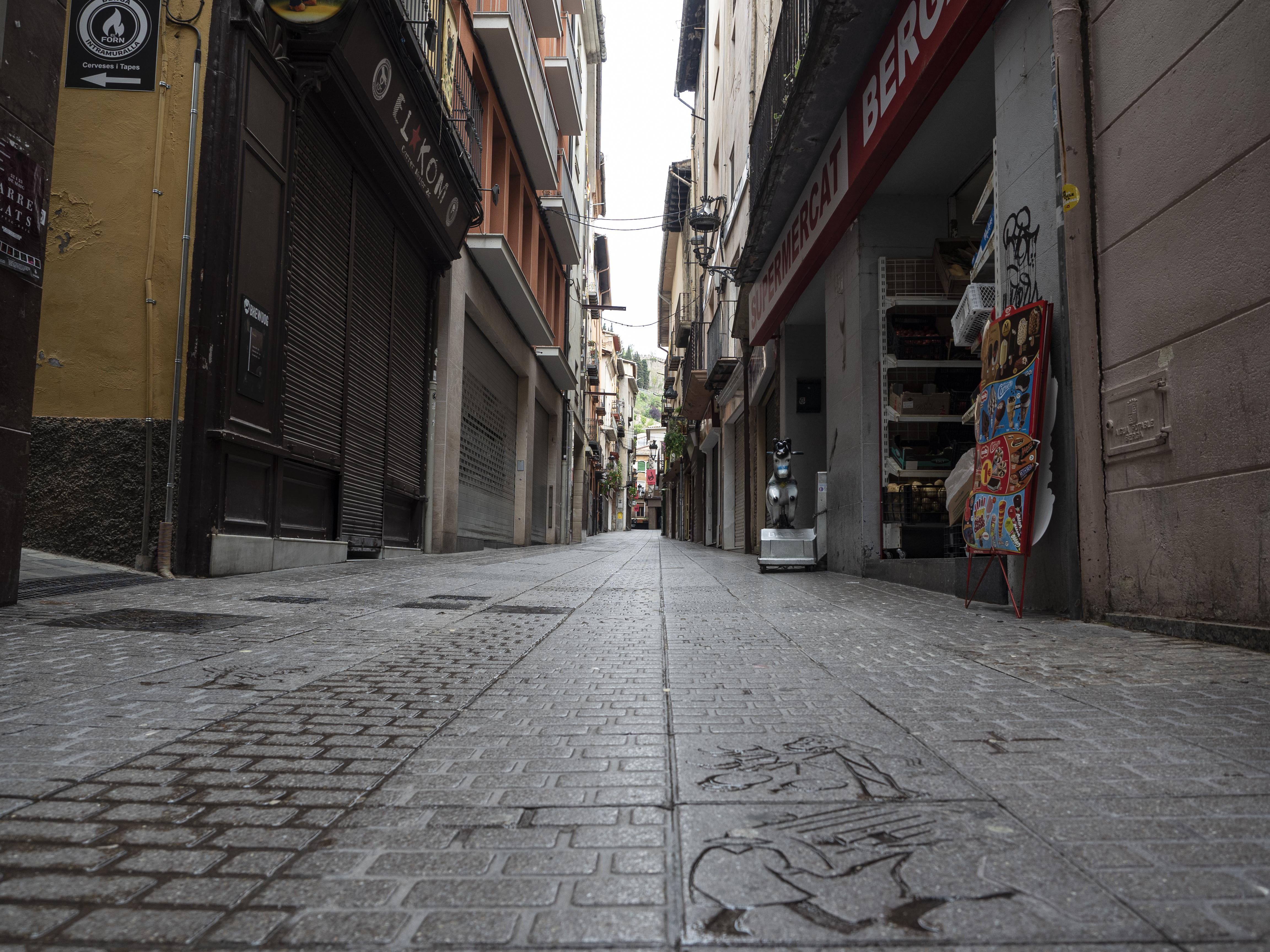 El Carrer Ciutat, també conegut com a Carrer Major és un dels nervis de la festa berguedana. FOTO: Anna E. Puig
