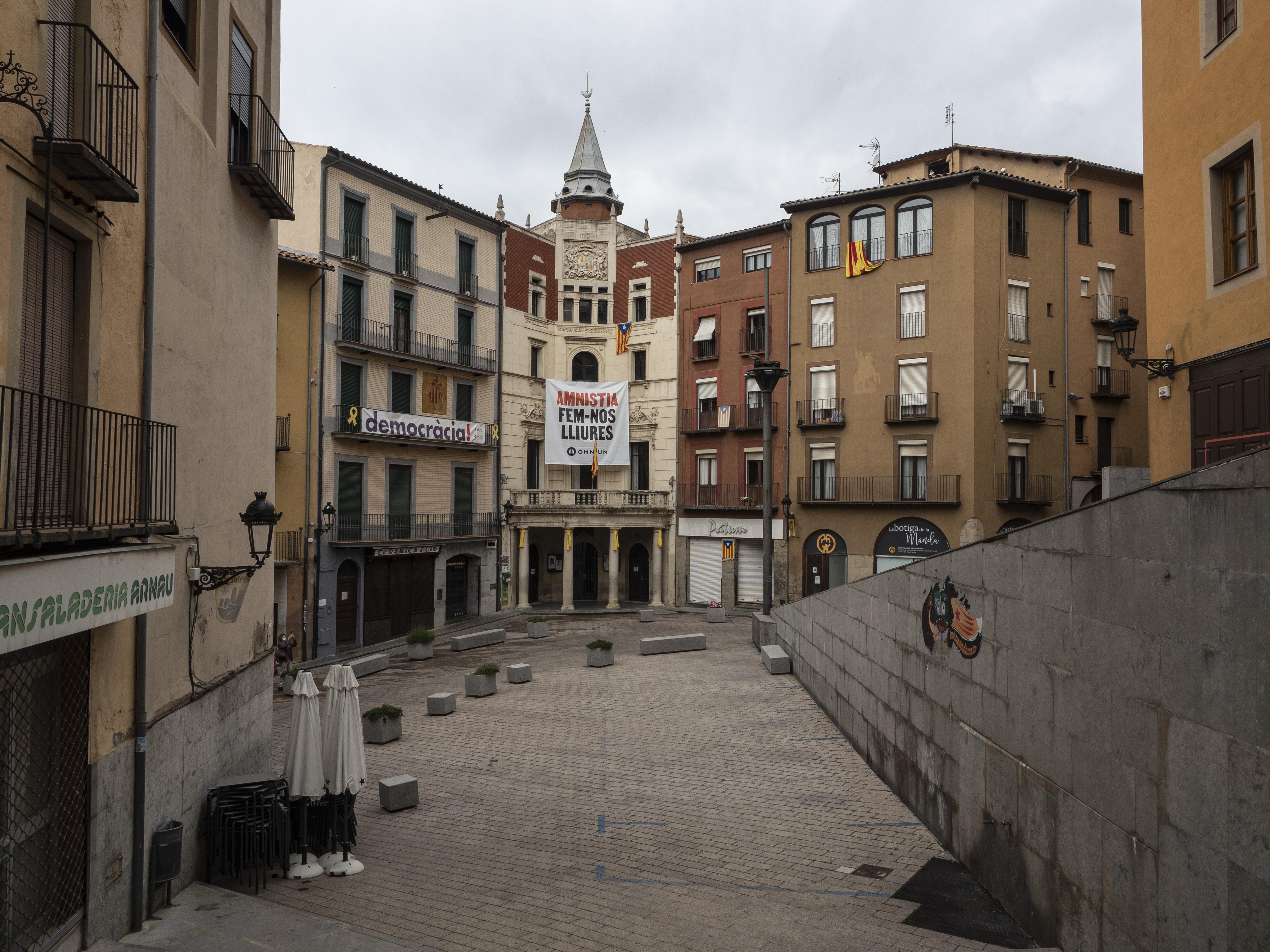 La Plaça de Sant Pere, centre neuràlgic de La Patum de Berga. FOTO: Anna E. Puig