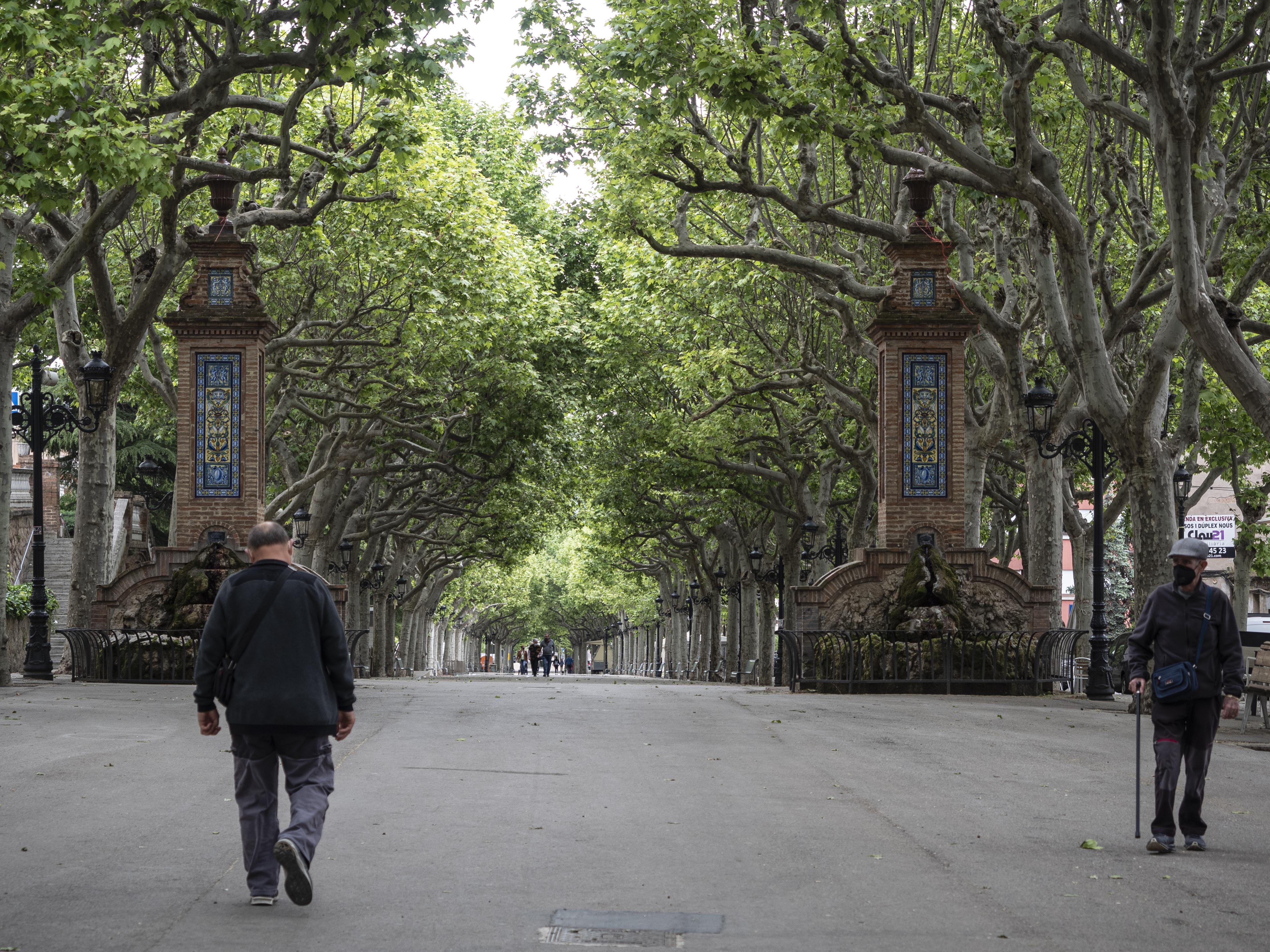 La Plaça Viladomat lloc on es fa la prova dels fuets de la Patum el dia de Els Quatre Fuets. FOTO: Anna E. Puig