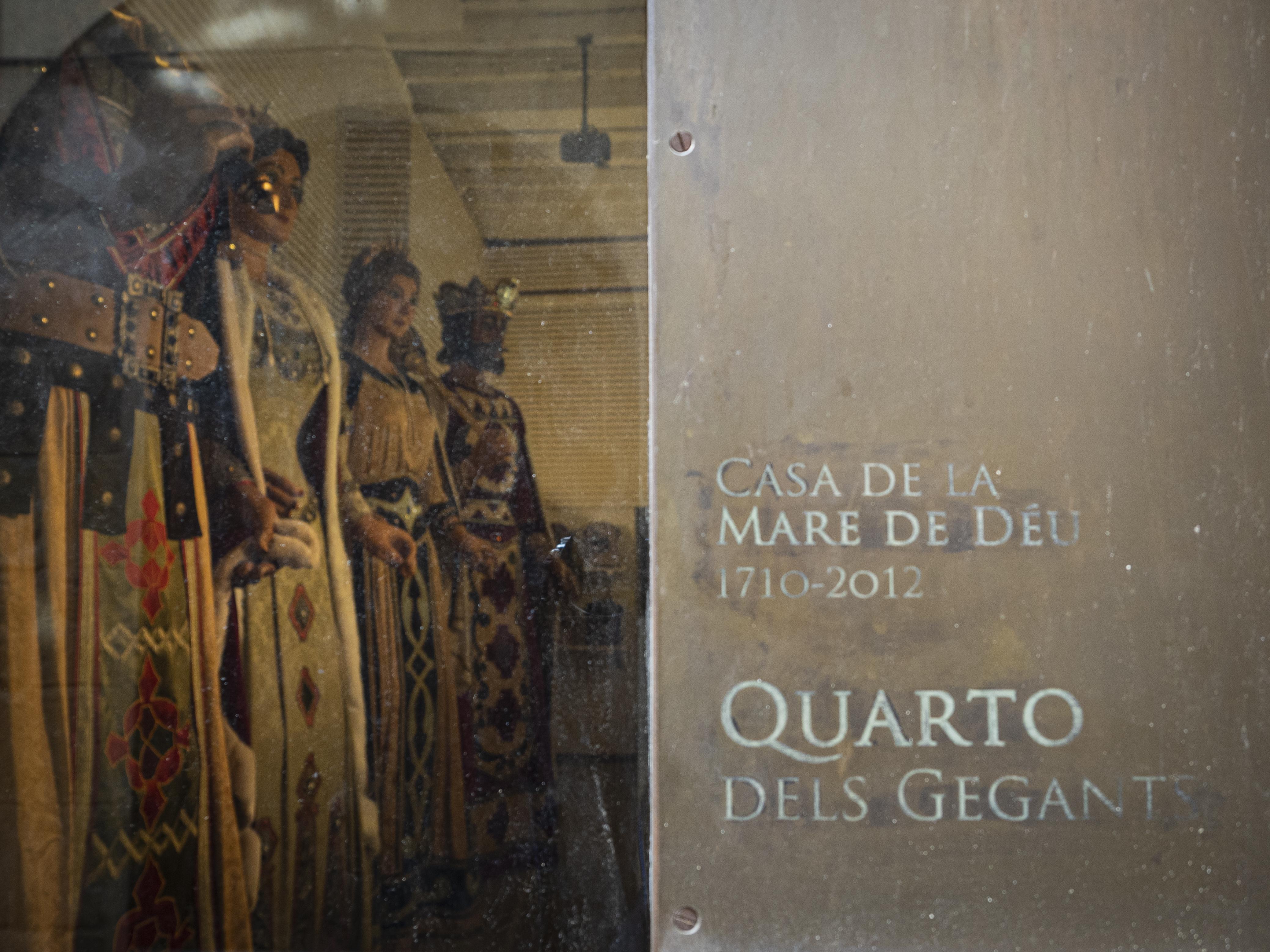 Al Carrer de Sant Llorenç, 37, hi trobem el Quarto dels Gegants. FOTO: Anna E. Puig