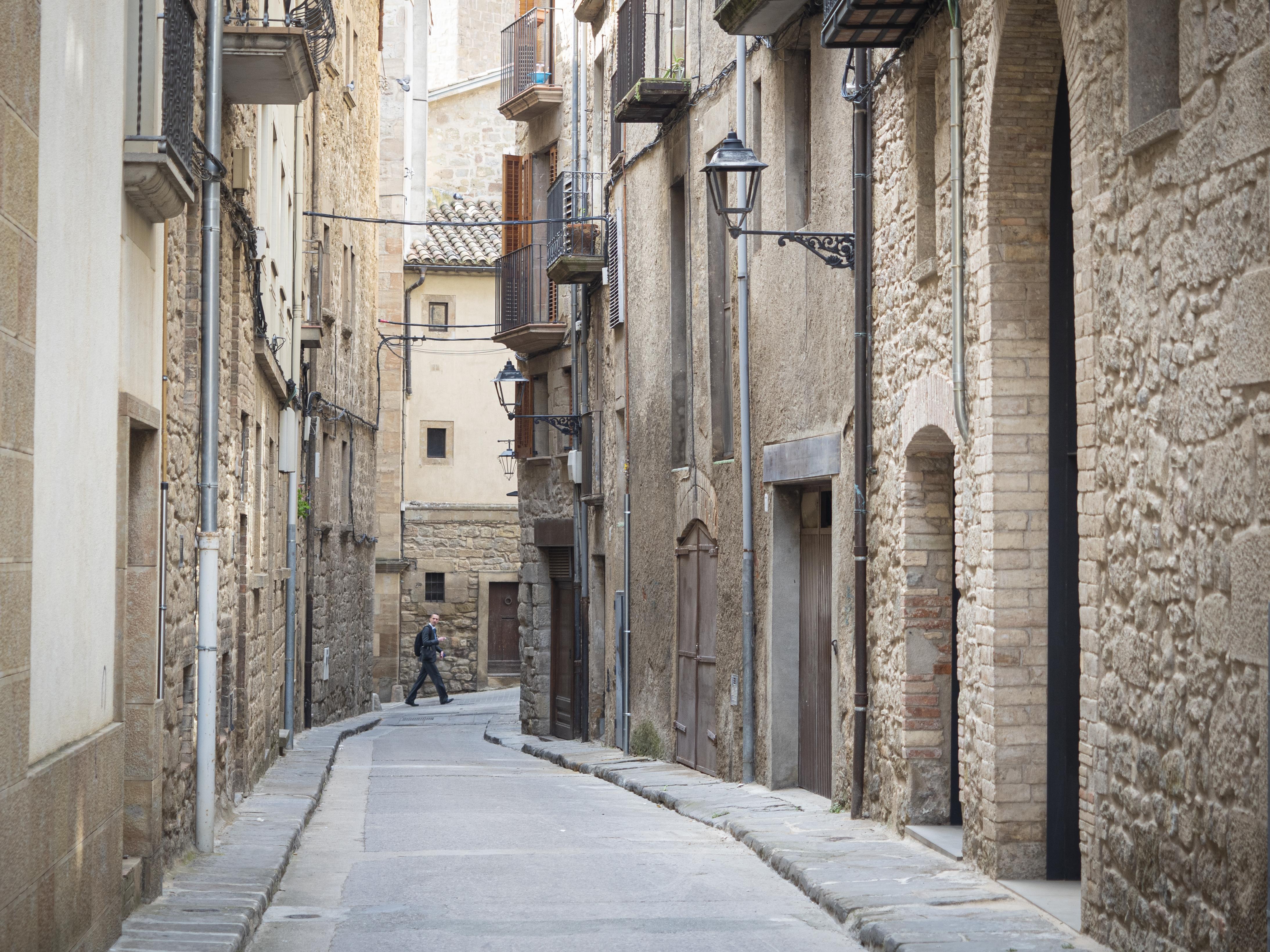 Els carrers del casc antic de Solsona són plens d'història de la ciutat. FOTO: Anna E. Puig