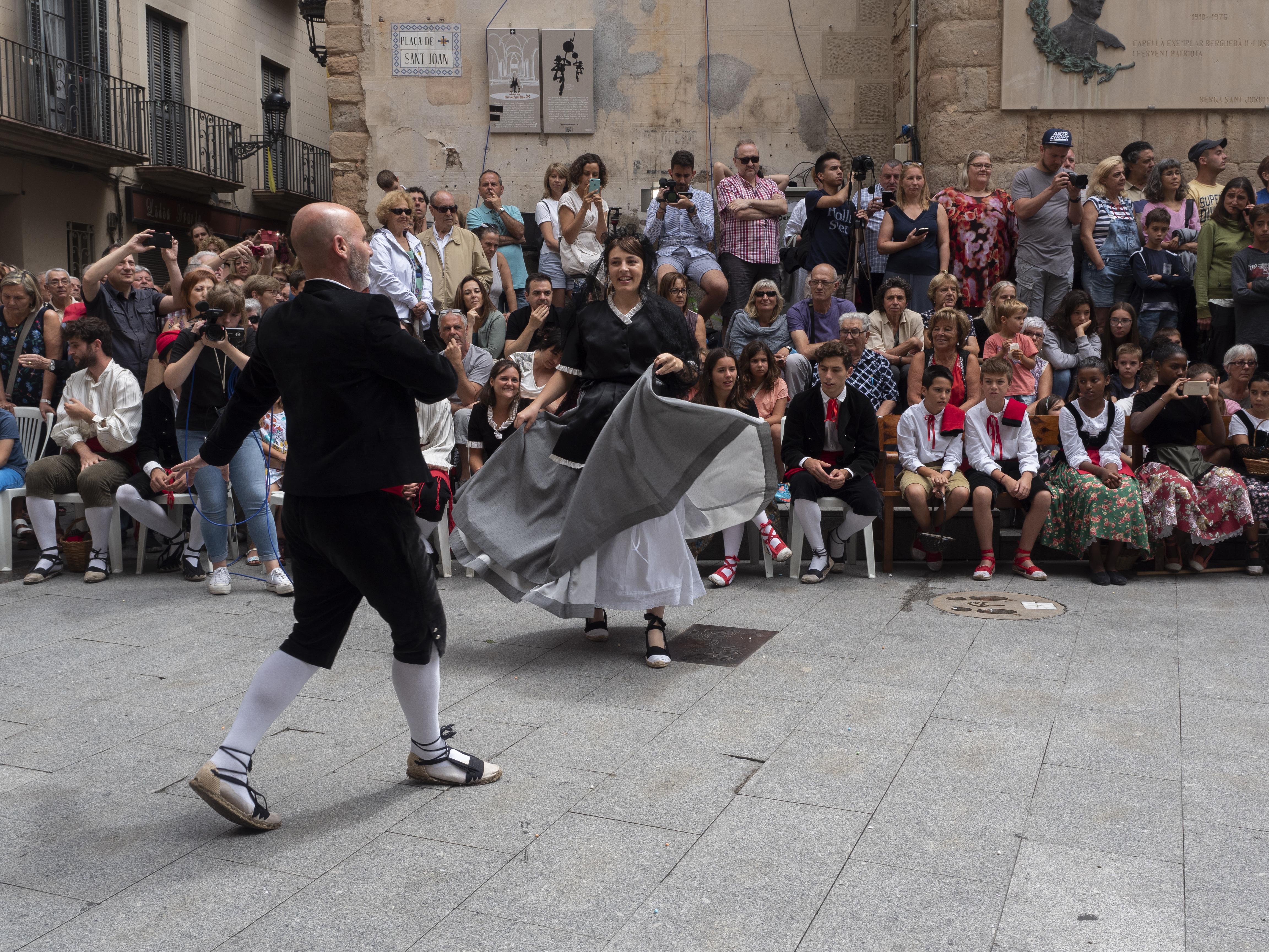 El Ballet de Déu es porta a terme diumenge al migdia a la Plaça de Sant Joan. FOTO: Anna E. Puig