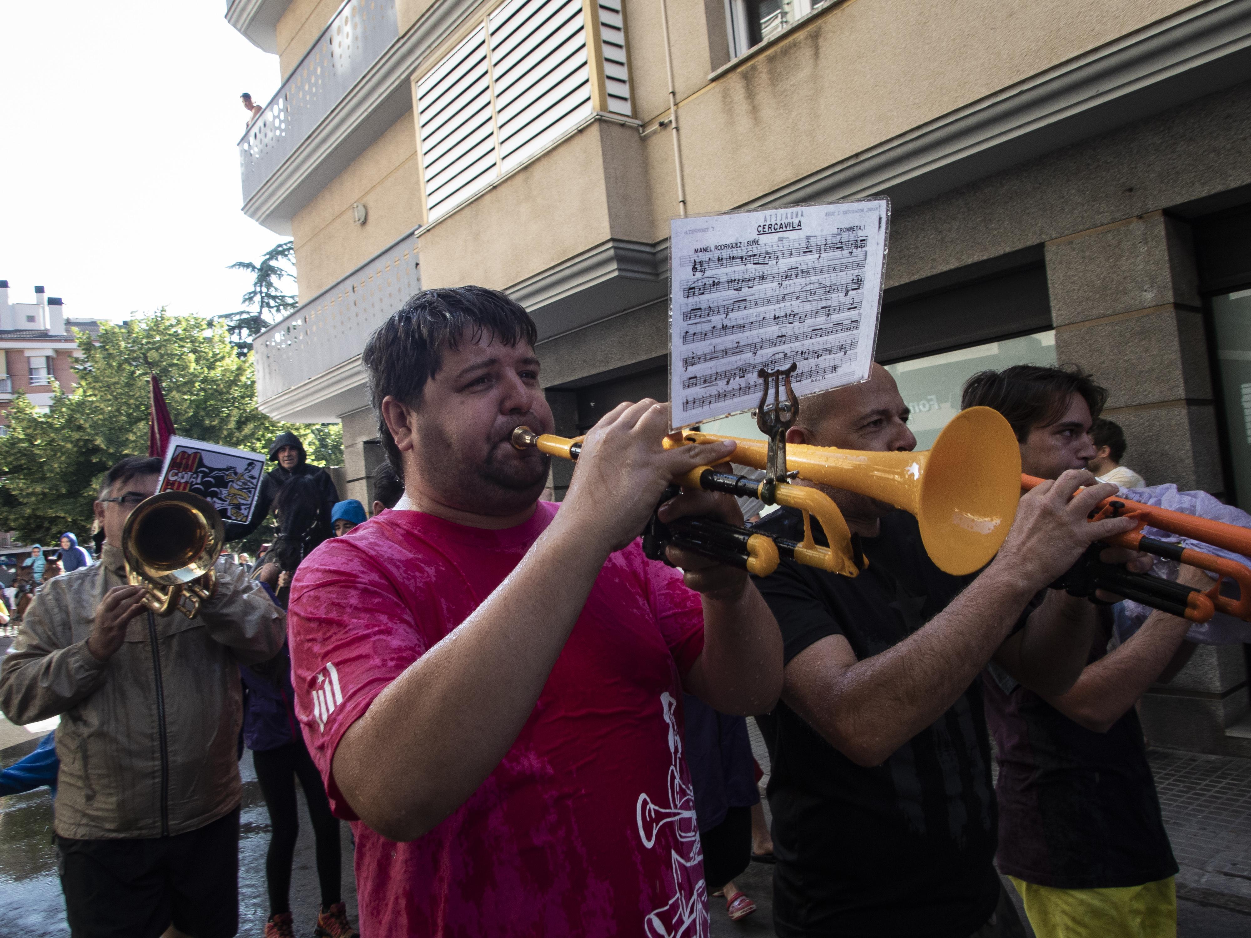 La música és una peça clau d'aquesta festa berguedana. FOTO: Anna E. Puig
