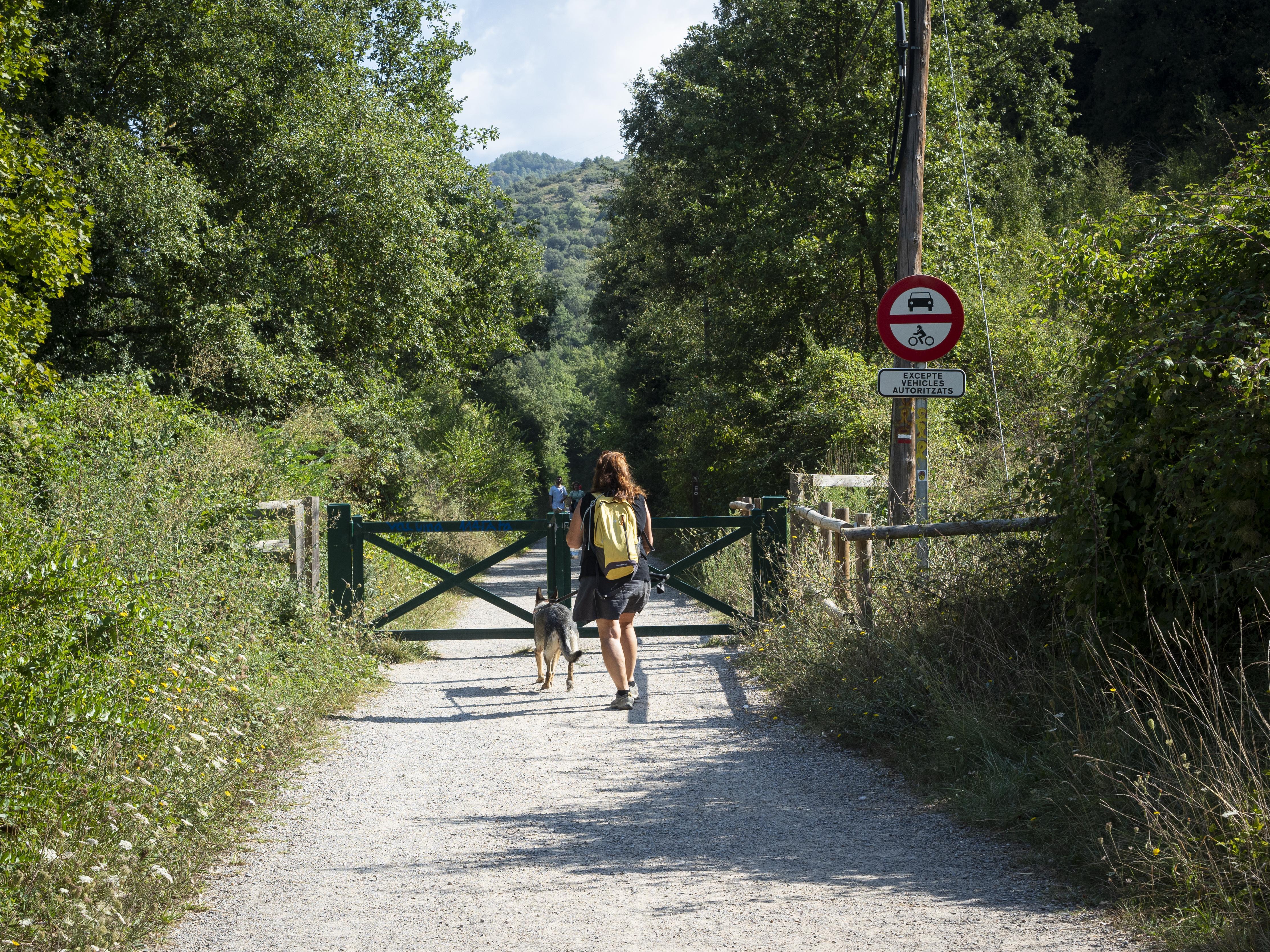 Recorregut de la Via Verda de Cal Rosal a Pedret. FOTO: Anna E. Puig