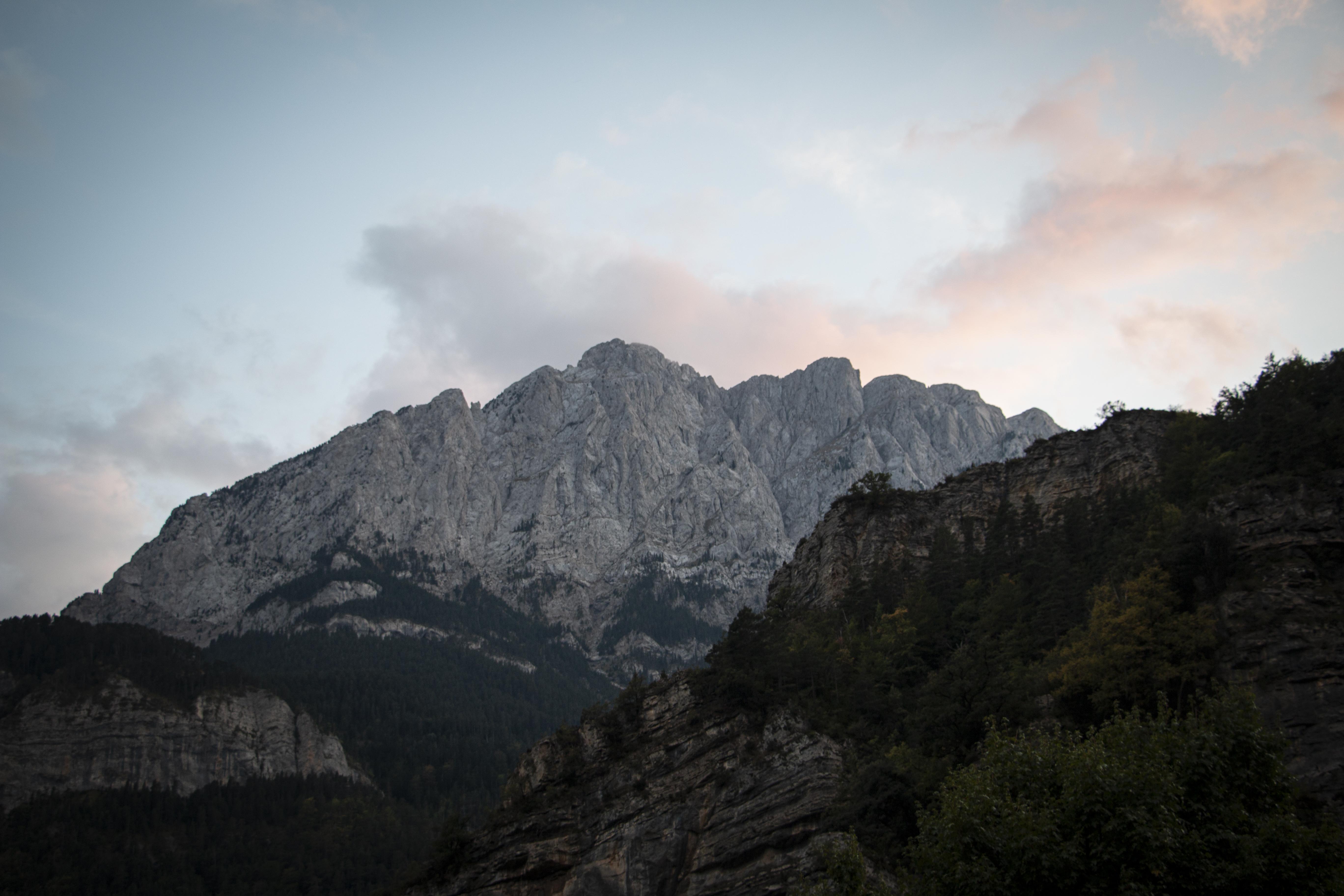 Aquesta és la cara del Pedraforca des de la vall de Gresolet. FOTO: Anna E. Puig