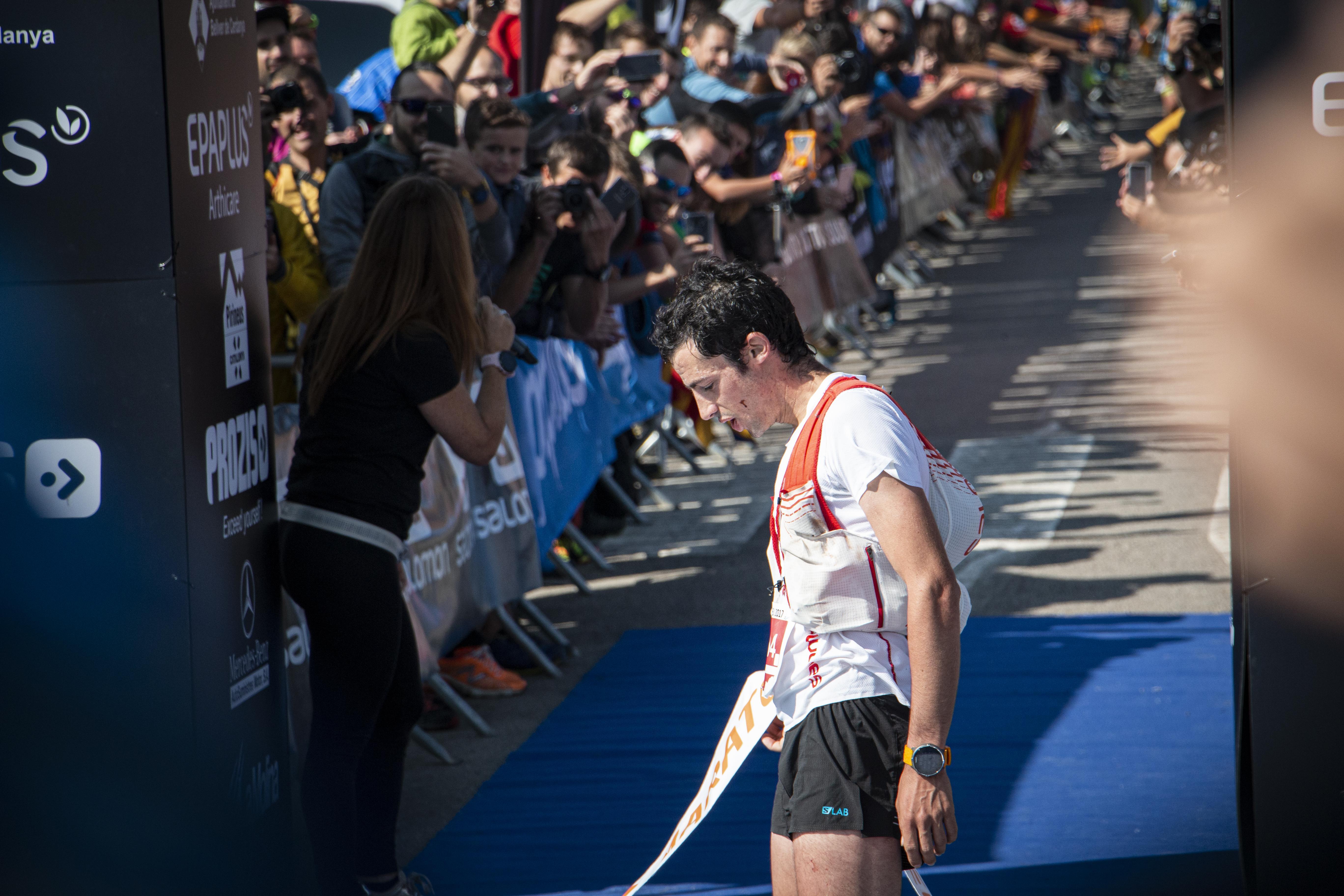 Kilian Jornet, guanyador de la Marató Pirineu 2017, enguany es penjarà un dorsal de la modalitat ultra. FOTO: Anna E. Puig